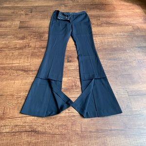 Stella McCartney navy split bottom wideleg trouser